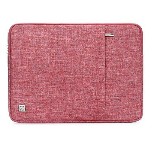"""NIDOO 10-10.1インチ ラップトップスリーブ 撥水 タブレットケース 9.7インチ / 11 インチ iPad Pro / 10.5"""" iPad Air / 10"""" Microsoft Surface Go / 10.1"""" Lenovo Ideapad D330 ノートブック用 (10.1 インチ, レッド)"""