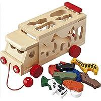 かたちはなあにウッドパズル 【ウッド パズル 知育 玩具 木 エコ 省エネ 収納 自然 幼児 ベビー ギフト お祝い かわいい 人気】