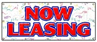 "NowリースバナーSign forリースRent Office小売店スペースアパートAPT 48''x120"" B-120 Now Leasing"