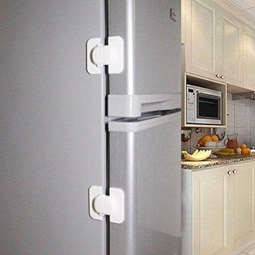 ベビーはがせる冷蔵庫引き出しロック - (5パック)冷蔵庫冷凍庫ドアロックラッチキャッチ幼児子供子供安全