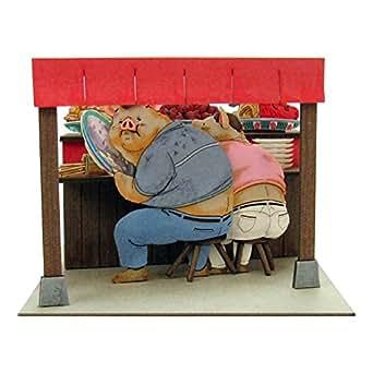 さんけい スタジオジブリmini 千と千尋の神隠し 両親、豚になる ノンスケール ペーパークラフト MP07-56