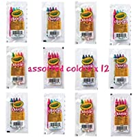 crayola 4 pack full size crayons party favors Bundle of 12 -4 packs Mixed colors - every 4 pack might be different includes glitter crayons neon colors Pastel colors and many more [並行輸入品]