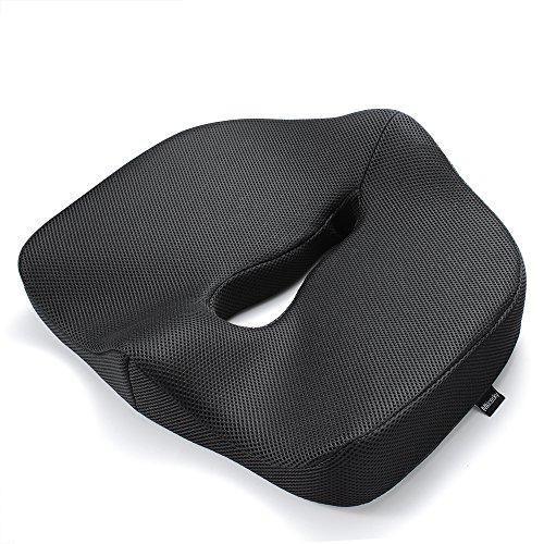 MKICESKY 革新のボーリング式中空設計 低反発健康クッション 座布団 腰痛対策 骨盤サポート姿勢矯正 オフィス椅子 運転 車椅子 車用