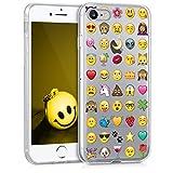 kwmobile TPUシリコンケース 絵文字デザイン Apple iPhone 7 / 8用 マルチカラ透明 - シックな携帯電話用保護ケース
