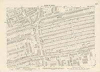 ロンドン(イギリス)、City Atlasマップ、ロンドンシートVIII。41895| Historicアンティークヴィンテージマップ再印刷 24in x 33in 551029_2433