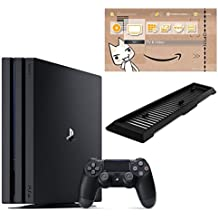 PlayStation 4 Pro ジェット・ブラック 1TB【Amazon.co.jp限定】アンサー 縦置きスタンド付 & オリジナルカスタムテーマ (配信)