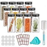 12PCS Glass Spice Jars, Small Items Storage and Organization, Glass Mason Jars with Lids, Seasoning Containers, Spice Organiz