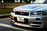 Nissan Skyline R34 Z-Tune GTR GT-R Front Close Up HD Poster Super Car 48 X 32 Inch Print by Driver Motorsports