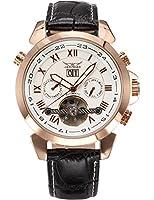 AMPM24 ローズ ゴールド メンズ 自動巻き自動機械式 日付&曜日表示 ブラックレザーバンド 腕時計 PMW283