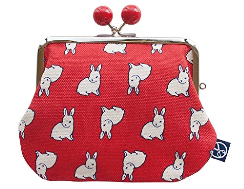 五色帆布堂 動物シリーズ 口金 親子財布 (ビーズ付) ウサギ 099906