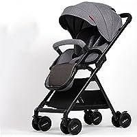 乳母車 赤ちゃんのベビーカーは軽く座って、リクライニング傘の車高地の折り畳みをすることができます 使いやすい (色 : Gray)