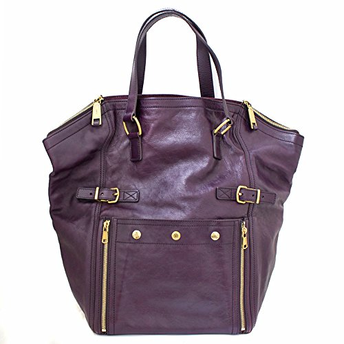 YvesSaintLaurent(イヴサンローラン) トートバッグ ダウンタウン ハンドバッグ レザー パープル紫 175883(中古)