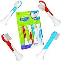 RRZ【Amazonに限定版】子供用替えブラシ HX6034 フィリップス ソニッケアー 電動歯ブラシに通用 HX6032 キッズ ブラシヘッド (4ピース)