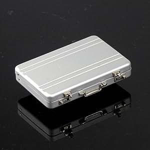 アルミアタッシュケース 型 名刺入れ カードケース や メディアケース にもOK (シルバー)