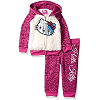 Hello Kitty Girls' Baby 2 Piece Hooded Fleece Active Set