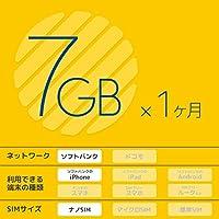 b-mobile 7GBプリペイドSIM (ソフトバンク) (iPhone専用) (ナノSIM) (1ヶ月) (データ専用) (SIM入りパッケージ)