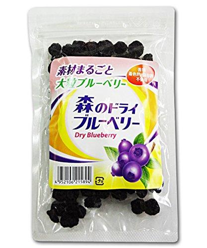 森川健康堂 素材まるごと大粒ブルーベリー 森のドライブルーベリー 100g