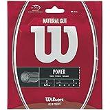 Wilson Unisex Natural Gut Tennis String WRZ999900, Natural, 17G