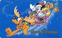 テレホンカード テレカ ディズニー ©Disney Merry Christmas ミッキーマウス プルート 50度数