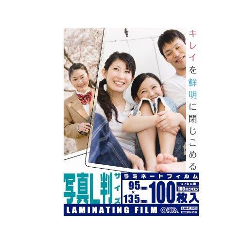 OHM 100ミクロンラミネーターフィルム L判 100枚 ...