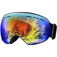 Patech スノーゴーグル スキーボード 99%UVカット 曇り防止 球面レンズ 防風/防雪/防塵 山登り/スキーなど用 男女兼用