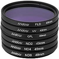 Andoer UV + CPL + FLD + ND(ND2 ND4 ND8)フィルターキットセット 紫外線・円偏光・蛍光・減光フィルター Nikon Canon Sony Pentaxデジタル一眼レフカメラ用