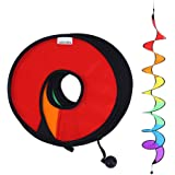 【2枚入】 ウィンドスピナー キャンプ風車 折りたたみ可能 アウトドアの親子活動 レインボー色 ウィンドスパイラル テント/庭でも掛け 安全な子供のおもちゃ テントの目印 ガーデニング装飾 虹色