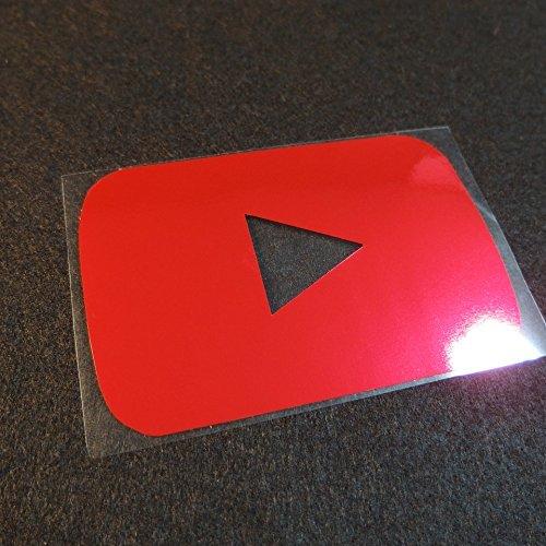 YouTube再生ボタン風ステッカー for Macbook...