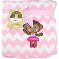 Ballerina Monkey 2-Ply Embroidered Fluffy Fleece Blanket Child of Mine by Carters by Carter's [並行輸入品]