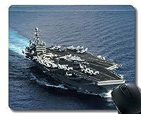 ステッチエッジ付きマウスパッド、軍用USS Theodore Roosevelt(CVN 71)軍艦滑り止めラバーマウスパッド