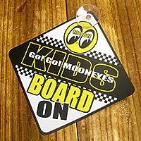 ムーンアイズ(MOONEYES) KIDS ON BOARD サイン_CA-MG483-MON