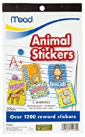 Mead Animal Stickers Book 9-1/2 x 5-3/4-Inches 1200+ Count (54160) [並行輸入品]