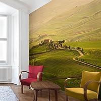 不織布壁紙プレミアム–Chianti Tuscany–壁画正方形壁紙壁壁画写真機能wall-art壁紙壁画寝室リビングルーム HxW: 132,28 x 132,28 inch 95841