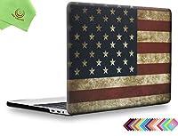 """UESWILLハードシェルケース MacBook Pro Retinaディスプレイ(2016年リリース)通常/タッチバーモデル用 滑らか ソフトな手触り つや消し マイクロファイバー製クリーニングクロス付き ブラック 2016 Macbook Pro 15"""" (Touch Bar) UES10F15T1-25"""