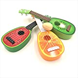 sac taske フルーツ ウクレレ 子供 ミニ 果物 ギター 3種類 セット & エッグシェーカー (スイカ×ミカン×キウイ)