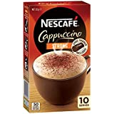 NESCAFÉ Strong Cappuccino Coffee Sachets 10 Pack, Chocolate Shaker Included