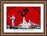 (v12–20–21) Georges Barbier La Naissance de Lart Deco_フレーム_キャンバス_ Giclee_プリント_ w31_ X h22 +[Large] #06-Brown/Gold V12-21F-MD393-03