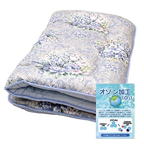 【色 柄おまかせ】日本製 シングル敷布団 除菌 防臭 オゾン加工【固綿入り ふっくら】
