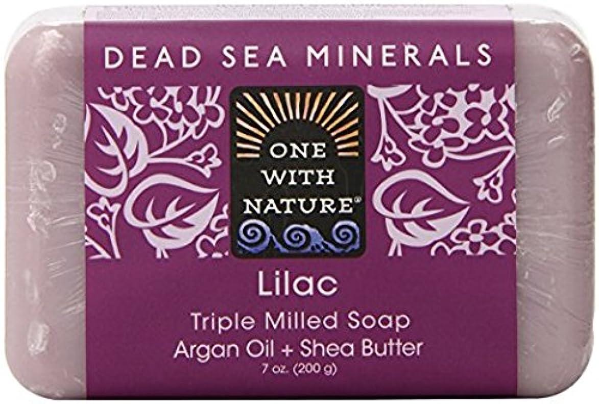 自動的にフォーム抽出海外直送品Dead Sea Mineral Bar Soap, Lilac 7 OZ by One with Nature