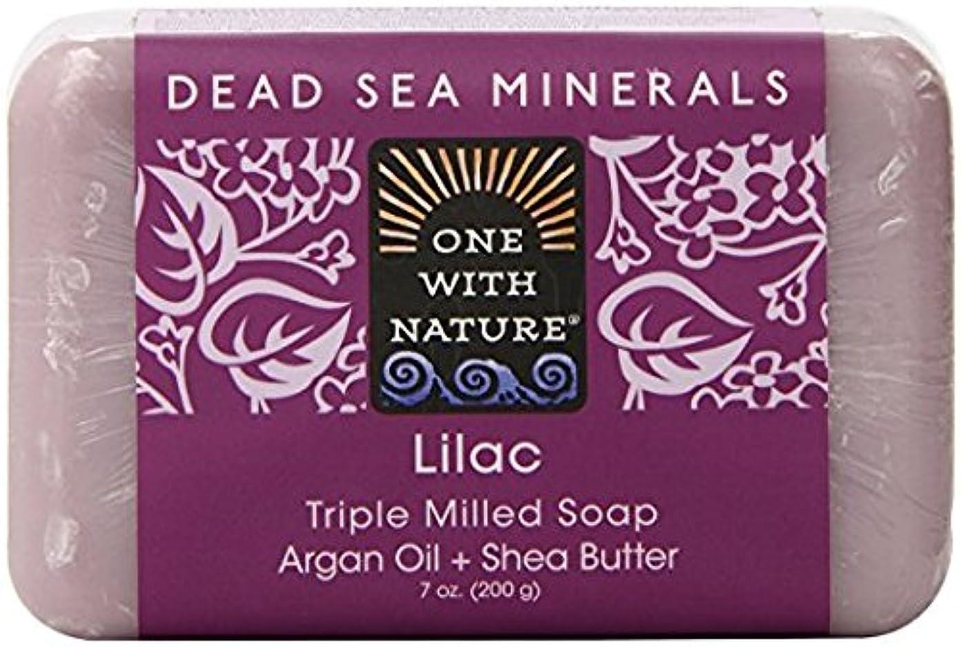 バーター最後に怒る海外直送品Dead Sea Mineral Bar Soap, Lilac 7 OZ by One with Nature