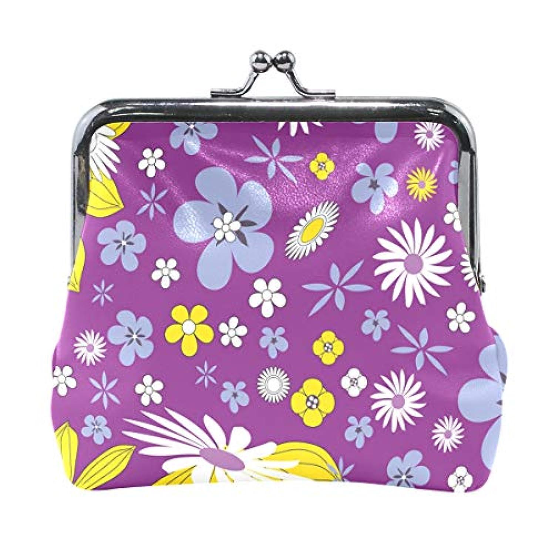 がま口 財布 口金 小銭入れ ポーチ 花 菊 紫 Jiemeil バッグ かわいい 高級レザー レディース プレゼント ほど良いサイズ