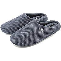 FANTINYメンズスリッパ 男女兼用冬のコットン屋内家の滑り止め メンズ 消音室内履き専用 洗える靴