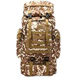 80L Oxford Cloth Outdoor Large Capacity Tactical Backpack Double Shoulder Mountaineering Bag Travel Bag