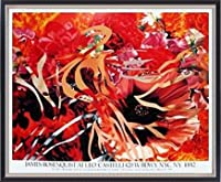 ポスター ジェームズ ローゼンクイスト Pearls Before Swine Flowers before Flames 1990年 限定1000枚 額装品 マッキアフレーム-S(ブラックシルバー)