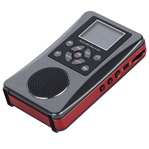 DEGEN DE28 +예비 배터리 세트 디지탈DSP 포켓 단파 라디오 포터블BCL수신기 FM스테레오/AM/SW 월드 밴드 리시버 ATS 1500 국프리 세트 메모리 MP3/WAV녹음 재생 WMA 보이스 레코더 microSD카드 대응 USB충전 슬립 타이머 알람 고음질 대구경 스피커 마이크 내장 디지탈 시그날 미터-DE28BAT