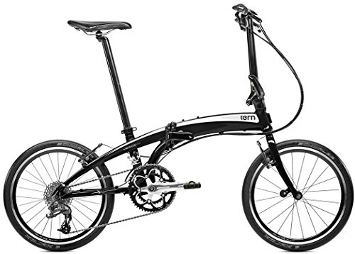 tern (turn) Verge P20 2015-20 inch folding bicycle [20 speed, before and after the derailleur] black / white 15VRP2BKWH