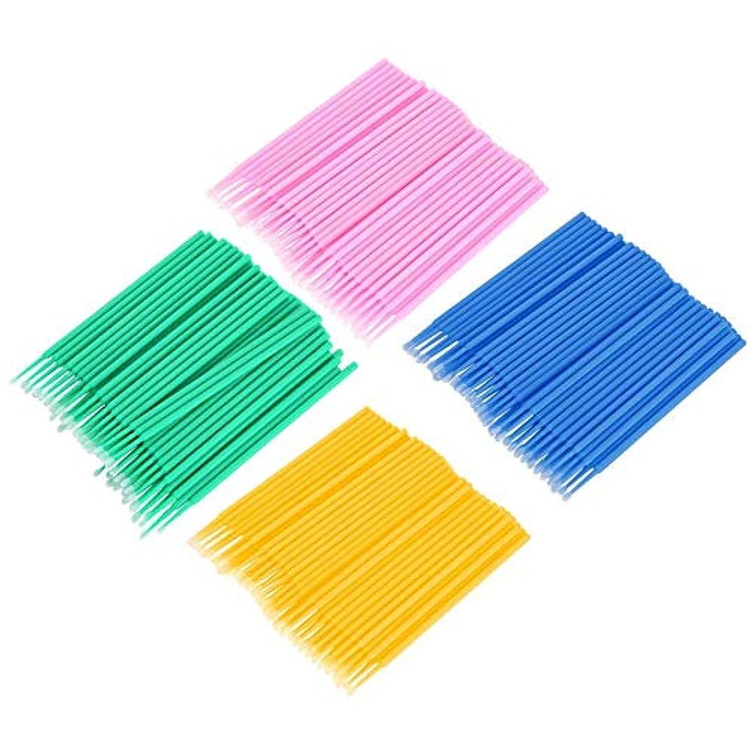 受粉する先例突き刺すSemmeコットン綿棒、まつげリムーバーまたはプライマーコットンスティック400個使い捨てコットンスティックまつげクリーニングスティックマイクロブラシ綿棒まつげライト