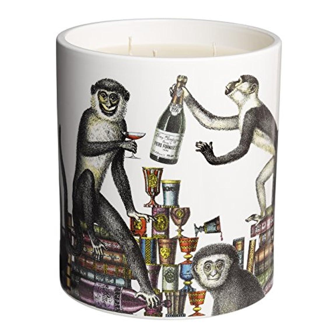 理容師シルエット結婚式Fornasetti Scimmie Large Scented Candle、1.9 KG(1900g)