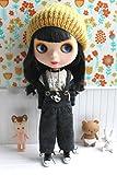 (ドーリア)Dollia ブライス 1/6ドール用 アウトフィット ダークグレー ウール ワイド オーバーオール ネオブライス ドール 人形 (オーバーオール)