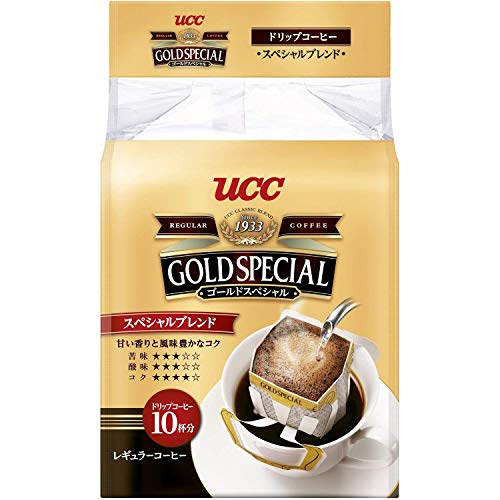 ゴールドスペシャル ドリップコーヒー スペシャルブレンド 粉 8gx10p 80g